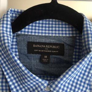 Banana Republic Shirts - Banana Republic men's gingham button down